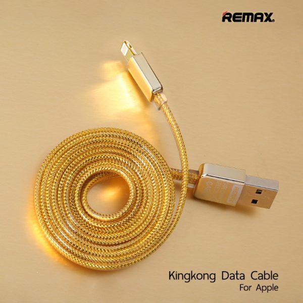 สายชาร์จไอโฟน remax kingkong data cable safe speed 1m
