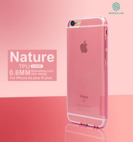 เคสใส ชมพู iphone 6s niilkin nature tpu pink