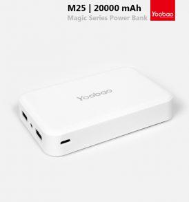 แบตสำรอง yoobao 20000 mah m25