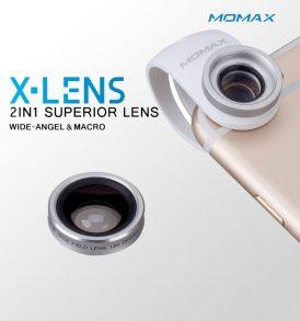 เลนส์เสริม ไอโฟน momax lens 2in1