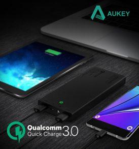 แบตสำรอง Aukey Power bank 16000 Quick Charge3.0 แบต fast charger