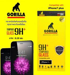 ฟิล์มกระจก iphone7 plus แบบเต็มจอ gorlla corning full screen