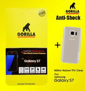 ฟิล์ม s7 gorilla anti shock เต็มจอ