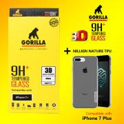 ฟิล์มกระจก iphone 7 gorilla New 3D Real Curved เต็มจอ