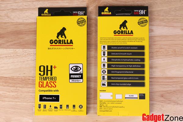 ฟิล์มกันเสือก ฟิล์มกันมอง gorilla privacy ไอโฟน7 plus