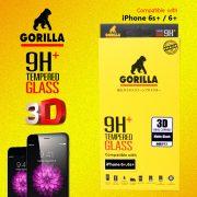 ฟิล์มกระจก แบบด้าน iphone 6 plus gorilla New 3D Real Curved เต็มจอคลุมขอบ