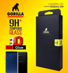 ฟิล์มกระจก s8 gorilla full glue กาวเต็มแผ่น