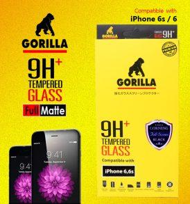 ฟิล์มกระจก i6 gorilla corning แบบด้าน เต็มจอ