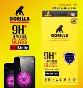 ฟิล์มกระจก i6+ gorilla corning แบบด้าน เต็มจอ