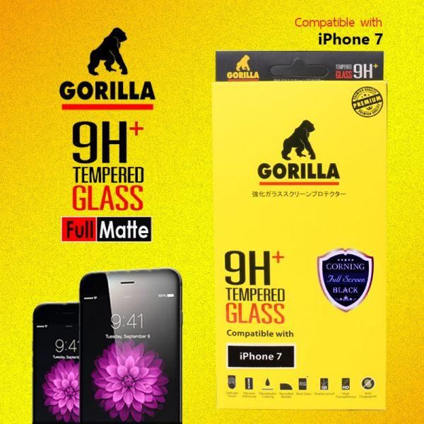 ฟิล์มกระจก i7 gorilla corning แบบด้าน เต็มจอ