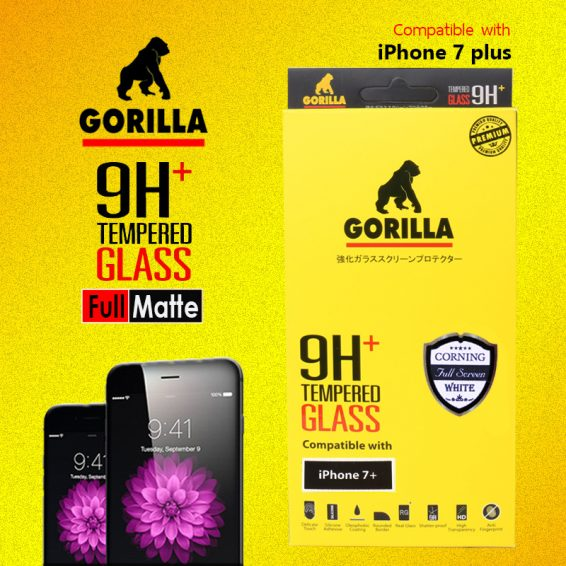 ฟิล์มกระจก i7+ gorilla corning แบบด้าน เต็มจอ