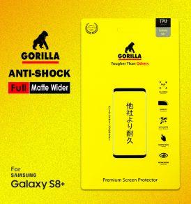 ฟิล์มด้าน s8 plus gorilla anti Shock เต็มจอ อ้อมหลัง