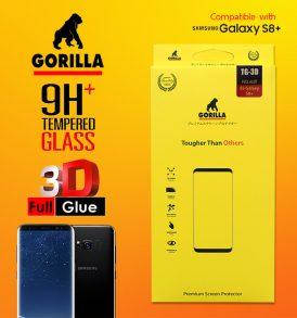 ฟิล์มกระจก กาวเต็ม gorilla 3d full glue s8+