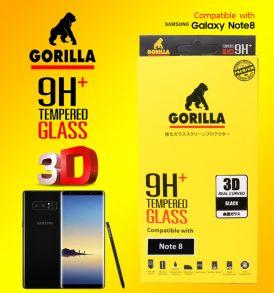 ฟิล์มกระจก Note8 gorilla new 3D