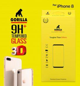 ฟิล์มกระจก กอลิล่า ไอโฟน 8 3d