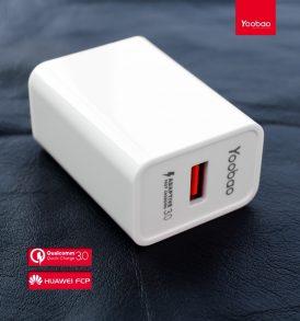 ปลั๊กชาร์จด่วน yoobao y712 fast charge3.0