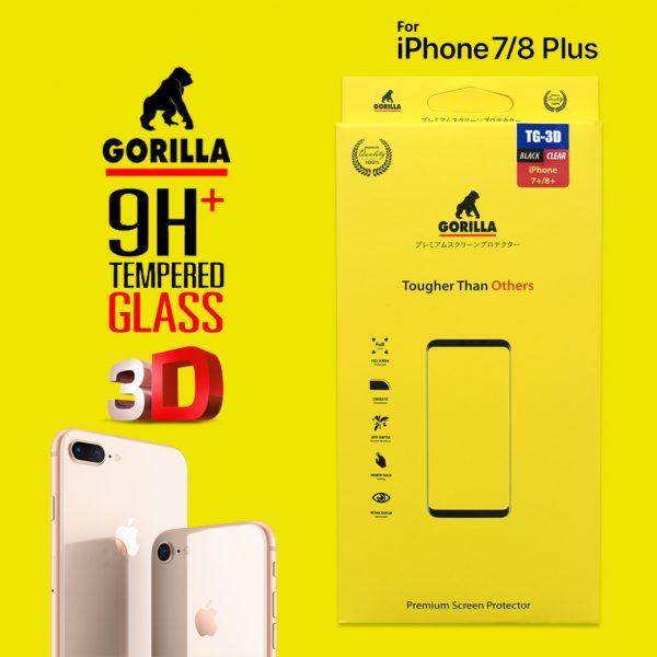ฟิล์มกระจก กอลิล่า tg 3d ไอโฟน8+ ไอโฟน7+