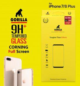ฟิล์มกระจก ไอโฟน8+ 7+ gorilla corning